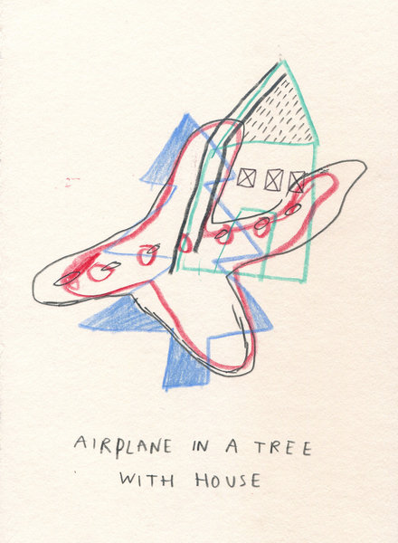 Beyond the Vanishing Point - Paintings and Drawings 2010-2012 - AIRPLANE_TREE